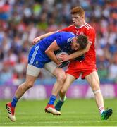 12 August 2018; Darren Hughes of Monaghan is tackled by Cathal McShane of Tyrone during the GAA Football All-Ireland Senior Championship semi-final match between Monaghan and Tyrone at Croke Park in Dublin. Photo by Ramsey Cardy/Sportsfile