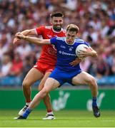 12 August 2018; Niall Kearns of Monaghan is tackled by Tiernan McCann of Tyrone during the GAA Football All-Ireland Senior Championship semi-final match between Monaghan and Tyrone at Croke Park in Dublin. Photo by Ramsey Cardy/Sportsfile