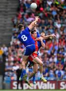 12 August 2018; Niall Kearns, 8, and Karl O'Connell of Monaghan in action against Colm Cavanagh of Tyrone during the GAA Football All-Ireland Senior Championship semi-final match between Monaghan and Tyrone at Croke Park in Dublin. Photo by Ramsey Cardy/Sportsfile