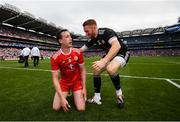 12 August 2018; Colm Cavanagh, left, and Michael O'Neill of Tyrone following the GAA Football All-Ireland Senior Championship semi-final match between Monaghan and Tyrone at Croke Park in Dublin. Photo by Stephen McCarthy/Sportsfile