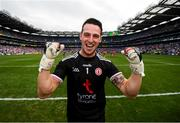 12 August 2018; Niall Morgan of Tyrone celebrates following the GAA Football All-Ireland Senior Championship semi-final match between Monaghan and Tyrone at Croke Park in Dublin. Photo by Stephen McCarthy/Sportsfile