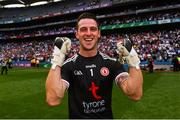 12 August 2018; Niall Morgan of Tyrone celebrates following the GAA Football All-Ireland Senior Championship semi-final match between Monaghan and Tyrone at Croke Park in Dublin. Photo by Ramsey Cardy/Sportsfile
