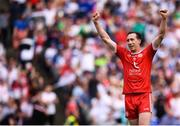 12 August 2018; Colm Cavanagh of Tyrone celebrates following the GAA Football All-Ireland Senior Championship semi-final match between Monaghan and Tyrone at Croke Park in Dublin. Photo by Stephen McCarthy/Sportsfile