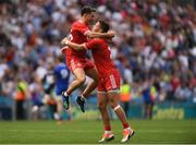 12 August 2018; Tyrone players Ronan O'Neill, left, and Michael McKernan celebrate after the GAA Football All-Ireland Senior Championship semi-final match between Monaghan and Tyrone at Croke Park in Dublin. Photo by Piaras Ó Mídheach/Sportsfile