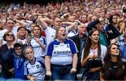 12 August 2018; Monaghan and Tyrone fans look on in the final moments of the GAA Football All-Ireland Senior Championship semi-final match between Monaghan and Tyrone at Croke Park in Dublin. Photo by Brendan Moran/Sportsfile