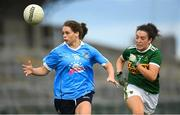 12 August 2018; Noelle Healy of Dublin in action against Aisling O'Connell of Kerry during the TG4 All-Ireland Ladies Football Senior Championship quarter-final match between Kerry and Dublin at Dr. Hyde Park, in Roscommon. Photo by Eóin Noonan/Sportsfile
