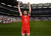 12 August 2018; Ronan McNamee of Tyrone celebrates following the GAA Football All-Ireland Senior Championship semi-final match between Monaghan and Tyrone at Croke Park in Dublin. Photo by Stephen McCarthy/Sportsfile