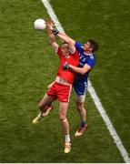 12 August 2018; Darren Hughes of Monaghan in action against Colm Cavanagh of Tyrone during the GAA Football All-Ireland Senior Championship Semi-Final match between Monaghan and Tyrone at Croke Park, in Dublin. Photo by Daire Brennan/Sportsfile