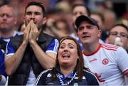 12 August 2018; Monaghan and Tyrone supporters watch the final moments of the GAA Football All-Ireland Senior Championship semi-final match between Monaghan and Tyrone at Croke Park in Dublin. Photo by Brendan Moran/Sportsfile