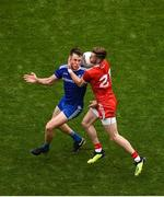 12 August 2018; Niall Kearns of Monaghan in action against Declan McClure of Tyrone during the GAA Football All-Ireland Senior Championship Semi-Final match between Monaghan and Tyrone at Croke Park, in Dublin. Photo by Daire Brennan/Sportsfile