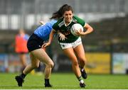 12 August 2018; Kate O'Sullivan of Kerry in action against Lauren Magee of Dublin during the TG4 All-Ireland Ladies Football Senior Championship quarter-final match between Kerry and Dublin at Dr. Hyde Park, in Roscommon. Photo by Eóin Noonan/Sportsfile