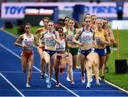 12 August 2018; A general view of the field, with Ciara Mageean of Ireland, centre, competing in the Women's 1500m Final during Day 6 of the 2018 European Athletics Championships at The Olympic Stadium in Berlin, Germany. Photo by Sam Barnes/Sportsfile