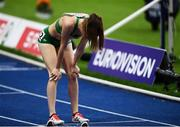 12 August 2018; Ciara Mageean of Ireland dejected after finishing fourth in the Women's 1500m Final during Day 6 of the 2018 European Athletics Championships at The Olympic Stadium in Berlin, Germany. Photo by Sam Barnes/Sportsfile