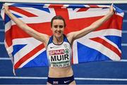 12 August 2018; Laura Muir of Great Britain on after winning the Women's 1500m Final during Day 6 of the 2018 European Athletics Championships at The Olympic Stadium in Berlin, Germany. Photo by Sam Barnes/Sportsfile