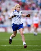 12 August 2018; Ciara O'Neill, The Rock NS, Portlaoise, Co Laois, representing Monaghan, during the INTO Cumann na mBunscol GAA Respect Exhibition Go Games at the GAA Football All-Ireland Senior Championship Semi Final match between Monaghan and Tyrone at Croke Park in Dublin.  Photo by Stephen McCarthy/Sportsfile
