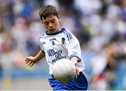 12 August 2018; John Curran, St Paul's NS, Castlerea, Co Roscommon, representing Monaghan, during the INTO Cumann na mBunscol GAA Respect Exhibition Go Games at the GAA Football All-Ireland Senior Championship Semi Final match between Monaghan and Tyrone at Croke Park in Dublin.  Photo by Piaras Ó Mídheach/Sportsfile
