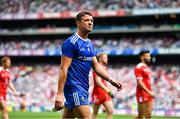 12 August 2018; Ryan Wylie of Monaghan during the pre-parade parade prior to the GAA Football All-Ireland Senior Championship semi-final match between Monaghan and Tyrone at Croke Park in Dublin. Photo by Brendan Moran/Sportsfile