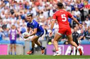 12 August 2018; Fintan Kelly of Monaghan in action against Tiernan McCann of Tyrone during the GAA Football All-Ireland Senior Championship semi-final match between Monaghan and Tyrone at Croke Park in Dublin. Photo by Brendan Moran/Sportsfile