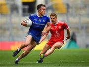 12 August 2018; Fintan Kelly of Monaghan in action against Peter Harte of Tyrone during the GAA Football All-Ireland Senior Championship semi-final match between Monaghan and Tyrone at Croke Park in Dublin. Photo by Brendan Moran/Sportsfile