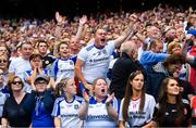 12 August 2018; Monaghan fans watch the final moments of the GAA Football All-Ireland Senior Championship semi-final match between Monaghan and Tyrone at Croke Park in Dublin. Photo by Brendan Moran/Sportsfile