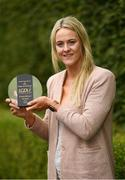 13 August 2018; Yvonne Bonner of Donegal with The Croke Park and LGFA Player of the Month award for June, at The Croke Park, Jones Road, in Dublin. Yvonne was a key member of the Donegal team that retained the TG4 Ulster Ladies senior football title, scoring four goals across the course of two matches against Monaghan and Armagh in the provincial championship. Donegal have since advanced to a very first TG4 All-Ireland senior semi-final. Photo by Ramsey Cardy/Sportsfile