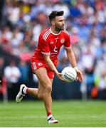 12 August 2018; Tiernan McCann of Tyrone during the GAA Football All-Ireland Senior Championship semi-final match between Monaghan and Tyrone at Croke Park in Dublin. Photo by Ramsey Cardy/Sportsfile