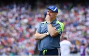 12 August 2018; Monaghan manager Malachy O'Rourke during the GAA Football All-Ireland Senior Championship semi-final match between Monaghan and Tyrone at Croke Park in Dublin. Photo by Ramsey Cardy/Sportsfile