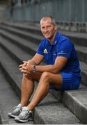 13 August 2018; Senior coach Stuart Lancaster poses for a portrait during An Evening With The Leinster Rugby Coaching Team at Energia Park in Donnybrook, Dublin. Photo by Ramsey Cardy/Sportsfile