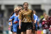 11 August 2018; Referee Mia Gorman, Annyalla NS, Castleblayney, Co Monaghan, after the INTO Cumann na mBunscol GAA Respect Exhibition Go Games at the GAA Football All-Ireland Senior Championship Semi Final match between Dublin and Galway at Croke Park in Dublin.  Photo by Piaras Ó Mídheach/Sportsfile