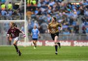 11 August 2018; Referee Mia Gorman, Annyalla NS, Castleblayney, Co Monaghan, during the INTO Cumann na mBunscol GAA Respect Exhibition Go Games at the GAA Football All-Ireland Senior Championship Semi Final match between Dublin and Galway at Croke Park in Dublin.  Photo by Piaras Ó Mídheach/Sportsfile