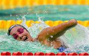 14 August 2018; Sarai Gascon of Spain competes in the heats of the Women's 100m Freestyle S9 event during day two of the World Para Swimming Allianz European Championships at the Sport Ireland National Aquatic Centre in Blanchardstown, Dublin. Photo by Seb Daly/Sportsfile