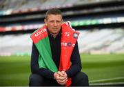 14 August 2018; Former Kerry footballer Tomás Ó Sé at the launch of the highly anticipated 2018 Croke Park Charity Challenge, organised by Alan Kerins in partnership with Self Help Africa. The event will see people from the world of business,sport, media and entertainment  partake in a charity sporting spectacle on the 23rd October to raise funds for Self Help Africa. Alan Kerins was joined by Uachtarán Chumann Lúthchleas Gael John Horan, Peter McDevitt, CFO, Self Help Africa, former Kerry footballer Tomás O'Sé, former Cork hurler and footballer Seán Óg Ó hAilpín, former Galway hurler Cyril Donnellan, Mayo footballer Jason Doherty, and Rory O'Connor of Rory's Stories at today's launch. Further information available at: https://selfhelpafrica.org/ie/charity-croke-park-challenge/. Croke Park, Dublin. Photo by Piaras Ó Mídheach/Sportsfile