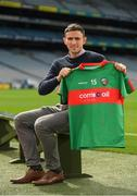 14 August 2018; Mayo footballer Jason Doherty at the launch of the highly anticipated 2018 Croke Park Charity Challenge, organised by Alan Kerins in partnership with Self Help Africa. The event will see people from the world of business,sport, media and entertainment  partake in a charity sporting spectacle on the 23rd October to raise funds for Self Help Africa. Alan Kerins was joined by Uachtarán Chumann Lúthchleas Gael John Horan, Peter McDevitt, CFO, Self Help Africa, former Kerry footballer Tomás O'Sé, former Cork hurler and footballer Seán Óg Ó hAilpín, former Galway hurler Cyril Donnellan, Mayo footballer Jason Doherty, and Rory O'Connor of Rory's Stories at today's launch. Further information available at: https://selfhelpafrica.org/ie/charity-croke-park-challenge/. Croke Park, Dublin. Photo by Piaras Ó Mídheach/Sportsfile