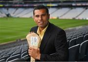 14 August 2018; Former Cork hurler and footballer Seán Óg Ó hAilpín at the launch of the highly anticipated 2018 Croke Park Charity Challenge, organised by Alan Kerins in partnership with Self Help Africa. The event will see people from the world of business,sport, media and entertainment  partake in a charity sporting spectacle on the 23rd October to raise funds for Self Help Africa. Alan Kerins was joined by Uachtarán Chumann Lúthchleas Gael John Horan, Peter McDevitt, CFO, Self Help Africa, former Kerry footballer Tomás O'Sé, former Cork hurler and footballer Seán Óg Ó hAilpín, former Galway hurler Cyril Donnellan, Mayo footballer Jason Doherty, and Rory O'Connor of Rory's Stories at today's launch. Further information available at: https://selfhelpafrica.org/ie/charity-croke-park-challenge/. Croke Park, Dublin. Photo by Piaras Ó Mídheach/Sportsfile