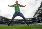 14 August 2018; Rory O'Connor of Rory's Stories at the launch of the highly anticipated 2018 Croke Park Charity Challenge, organised by Alan Kerins in partnership with Self Help Africa. The event will see people from the world of business,sport, media and entertainment  partake in a charity sporting spectacle on the 23rd October to raise funds for Self Help Africa. Alan Kerins was joined by Uachtarán Chumann Lúthchleas Gael John Horan, Peter McDevitt, CFO, Self Help Africa, former Kerry footballer Tomás O'Sé, former Cork hurler and footballer Seán Óg Ó hAilpín, former Galway hurler Cyril Donnellan, Mayo footballer Jason Doherty, and Rory O'Connor of Rory's Stories at today's launch. Further information available at: https://selfhelpafrica.org/ie/charity-croke-park-challenge/. Croke Park, Dublin. Photo by Piaras Ó Mídheach/Sportsfile