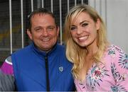 14 August 2018; Current Wexford hurling manager Davy Fitzgerald, and former Cork camogie player Anna Geary, at the seventh annual Hurling for Cancer Research game, a celebrity hurling match in aid of the Irish Cancer Society in St Conleth's Park, Newbridge. The event, organised by legendary racehorse trainer Jim Bolger and National Hunt jockey Davy Russell, has raised €700,000 to date to fund the Irish Cancer Society's innovative cancer research projects. Photo by Piaras Ó Mídheach/Sportsfile