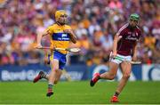 5 August 2018; Colm Galvin of Clare in action against Niall Burke of Galway during the GAA Hurling All-Ireland Senior Championship Semi-Final Replay match between Galway and Clare at Semple Stadium in Thurles, Co Tipperary. Photo by Ramsey Cardy/Sportsfile