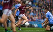 11 August 2018; Shane Walsh kicks a late goal for Galway during the GAA Football All-Ireland Senior Championship semi-final match between Dublin and Galway at Croke Park in Dublin.  Photo by Ray McManus/Sportsfile