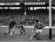 2 September 1973; Kilkenny goalkeeper Noel Skehan in action against Ned Rea of Limerick during the All Ireland Hurling Final match between Kilkenny and Limerick at Croke Park, in Dublin. Photo by Connolly Collection/Sportsfile