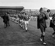 2 September 1973; The Limerick team, led by captain Eamonn Grimes, parade behind the Artane Band ahead All Ireland Hurling Final match between Kilkenny and Limerick at Croke Park, in Dublin. Photo by Connolly Collection/Sportsfile