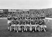 2 September 1973; The Limerick team, back row, left to right, Richie Bennis, Liam O'Donoghue, Jim O'Brien, Pat Hartigan, Joe McKenna, Eamonn Cregan, Willie Moore, Ned Rea, front row, left to right, Seán Foley, Mossy Dowling, Bernie Hartigan, Eamonn Grimes, Phil Bennis, Frankie Nolan, and Séamus Horgan before the All Ireland Hurling Final match between Kilkenny and Limerick Croke Park in Dublin. Photo by Connolly Collection/Sportsfile