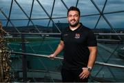15 August 2018; Marty Moore poses for a portrait following an Ulster Rugby Media Event at Victoria Square in Belfast. Photo by Ramsey Cardy/Sportsfile