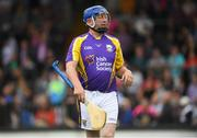 14 August 2018; Damien Fitzhenry, former Wexford hurler, representing Jim Bolger's Stars, during the seventh annual Hurling for Cancer Research game, a celebrity hurling match in aid of the Irish Cancer Society at St Conleth's Park, in Newbridge. The event, organised by legendary racehorse trainer Jim Bolger and National Hunt jockey Davy Russell, has raised €700,000 to date to fund the Irish Cancer Society's innovative cancer research projects. The final score was: Davy Russell's Best 5-20 to Jim Bolger's Stars: 6-12. Photo by Piaras Ó Mídheach/Sportsfile
