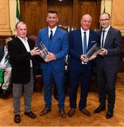 16 August 2018; Republic of Ireland manager Martin O'Neill and Republic of Ireland Women's National Team manager Colin Bell make presentations to FAI Cork Development Officers Stephen O'Mahony, left, and Dave Bell at a reception hosted by the Lord Mayor of Cork for a FAI Delegation at City Hall in Cork. Photo by Stephen McCarthy/Sportsfile