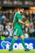 16 August 2018; A dejected Damien Delaney of Cork City following the UEFA Europa League 3rd Qualifying Round Second Leg match between Rosenborg and Cork City at Lerkendal Stadion in Trondheim, Norway. Photo by Jon Olav Nesvold/Sportsfile