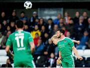 16 August 2018; Birger Meling of Rosenborg in action against Jimmy Keohane of Cork City during the UEFA Europa League 3rd Qualifying Round Second Leg match between Rosenborg and Cork City at Lerkendal Stadion in Trondheim, Norway. Photo by Jon Olav Nesvold/Sportsfile