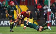17 August 2018; JJ Hanrahan of Munster is tackled by Max Northcote-Green of London Irish during the Keary's Renault pre-season friendly match between Munster and London Irish at Irish Independent Park in Cork. Photo by Diarmuid Greene/Sportsfile