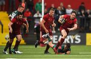 17 August 2018; Darren Sweetnam of Munster gets away from Ben Meehan of London Irish during the Keary's Renault pre-season friendly match between Munster and London Irish at Irish Independent Park in Cork. Photo by Diarmuid Greene/Sportsfile