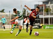 17 August 2018; Kevin Devaney of Bohemians in action against Aaron Greene of Shamrock Rovers during the SSE Airtricity League Premier Division match between Shamrock Rovers and Bohemians at Tallaght Stadium in Dublin. Photo by Seb Daly/Sportsfile