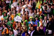 17 August 2018; Supporters cheer on Ellen Keane of Ireland during the Women's 200m Individual Medley SM9 event during day five of the World Para Swimming Allianz European Championships at the Sport Ireland National Aquatic Centre in Blanchardstown, Dublin. Photo by David Fitzgerald/Sportsfile